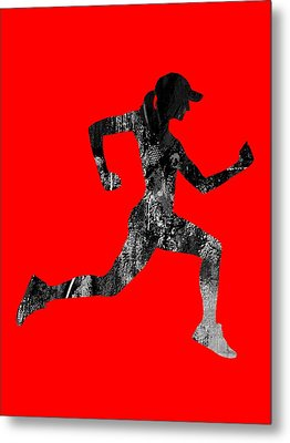 iRun Fitness Collection Metal Print by Marvin Blaine