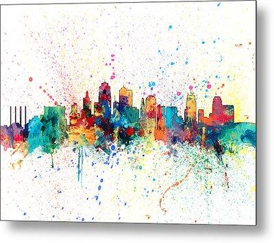 Kansas City Skyline Metal Print by Michael Tompsett