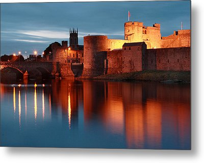 King John's Castle Limerick Ireland Metal Print by Pierre Leclerc Photography