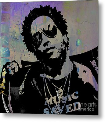 Lenny Kravitz Collection Metal Print by Marvin Blaine