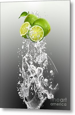 Lime Splash Metal Print by Marvin Blaine