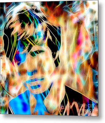 Mick Jagger Of The Rolling Stones1964 Painting Metal Print by Marvin Blaine
