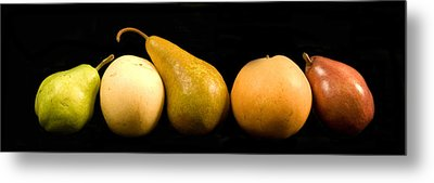 5 Pears Metal Print by Cabral Stock