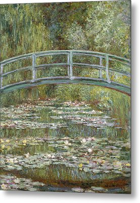 The Water Lily Pond Metal Print by Claude Monet
