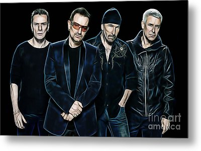 U2 Collection Metal Print by Marvin Blaine