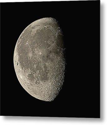 Waning Gibbous Moon Metal Print by Eckhard Slawik