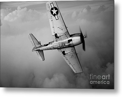 A Grumman F6f Hellcat Fighter Plane Metal Print by Scott Germain