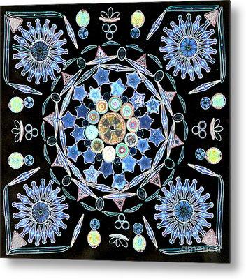 Diatoms Metal Print by M I Walker