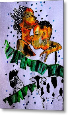 Kintu And Nambi Poster Metal Print by Gloria Ssali