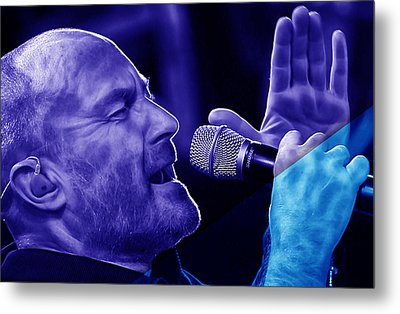 Phil Collins Collection Metal Print by Marvin Blaine