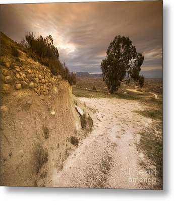 Spanish Landscape Metal Print by Angel  Tarantella