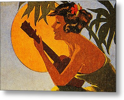 Vintage Hawaiian Art Metal Print by Hawaiian Legacy Archive - Printscapes