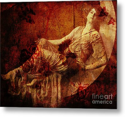 Winsome Woman  Metal Print by Chris Andruskiewicz