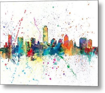 Austin Texas Skyline Metal Print by Michael Tompsett
