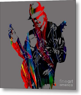 Carlos Santana Collection Metal Print by Marvin Blaine