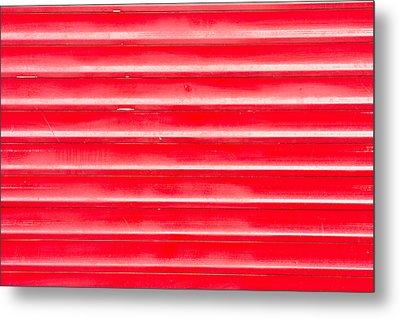 Red Metal Metal Print by Tom Gowanlock