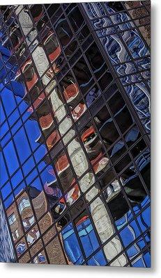 Reflective Glass Architecture Metal Print by Robert Ullmann