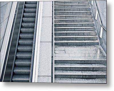Stairs Metal Print by Tom Gowanlock
