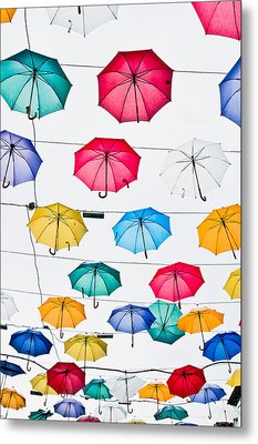 Umbrellas Metal Print by Tom Gowanlock