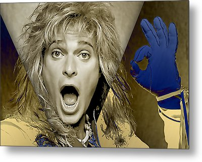 David Lee Roth Collection Metal Print by Marvin Blaine
