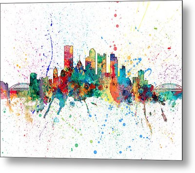 Pittsburgh Pennsylvania Skyline Metal Print by Michael Tompsett