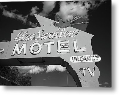 Route 66 - Blue Swallow Motel Metal Print by Frank Romeo