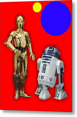 Star Wars C3po And R2d2 Collection Metal Print by Marvin Blaine