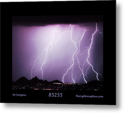 85255 Fine Art Arizona Lightning Photo Poster Metal Print by James BO  Insogna