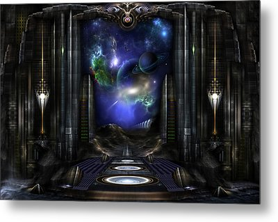 89-123-a9p2 Arsairian 7 Reporting Fractal Composition Metal Print by Xzendor7