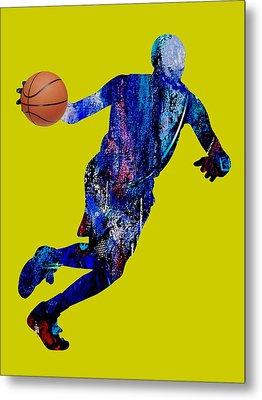 Basketball Collection Metal Print by Marvin Blaine