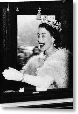 British Royalty. Queen Elizabeth II Metal Print by Everett