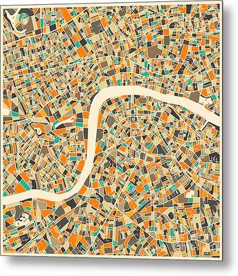 London Map Metal Print by Jazzberry Blue