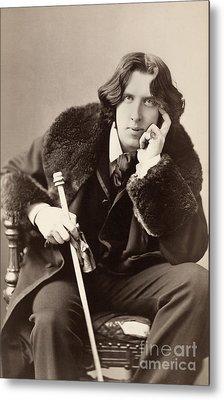 Oscar Wilde (1854-1900) Metal Print by Granger