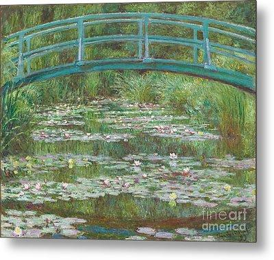The Japanese Footbridge Metal Print by Claude Monet