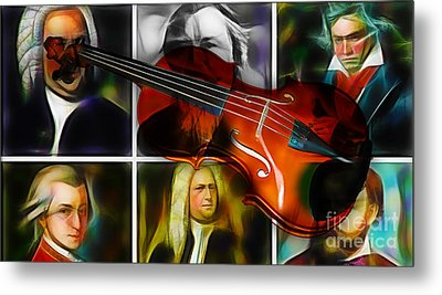 Violin Collection Metal Print by Marvin Blaine