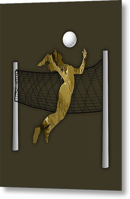 Vollyball Collection Metal Print by Marvin Blaine