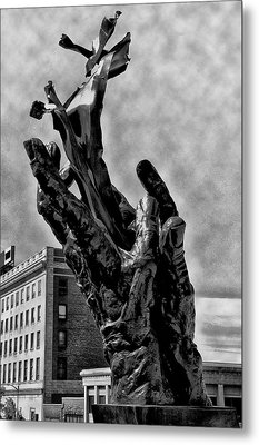 911 Memorial - Norristown Metal Print by Bill Cannon