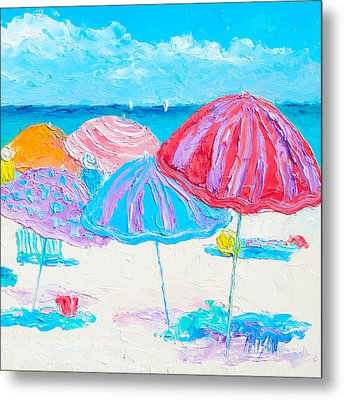 A Beach Scene Metal Print by Jan Matson
