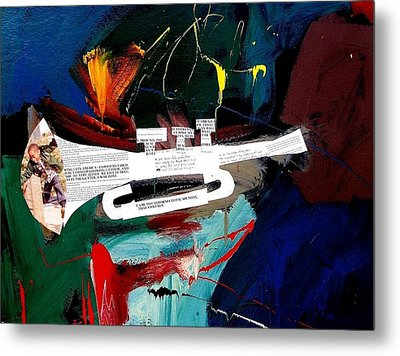A Blues For Tupac Metal Print by Harold Smith