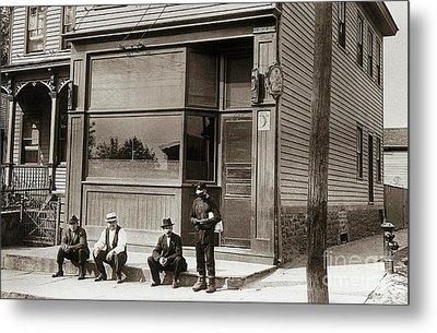A Coal Miners Bar  George Ave Parsons Pennsylvania Early 1900s Metal Print by Arthur Miller