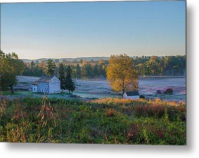A Cool Autumn Morning In Valley Forge Metal Print by Bill Cannon