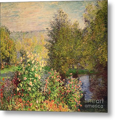 A Corner Of The Garden At Montgeron Metal Print by Claude Monet