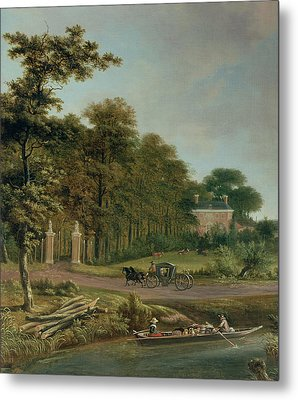 A Country House Metal Print by J Hackaert