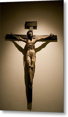 A Crucifix In The Old Saint Francis Metal Print by Stephen St. John