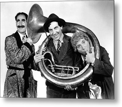 A Day At The Races, From Left Groucho Metal Print by Everett