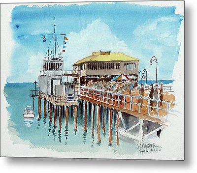 A Day At The Shore Metal Print by John Crowther
