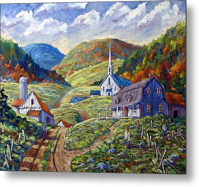 A Day In Our Valley Metal Print by Richard T Pranke