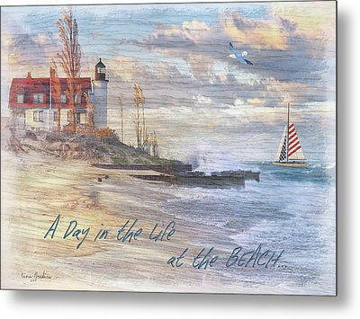 A Day In The Life At The Beach Metal Print by Nina Bradica