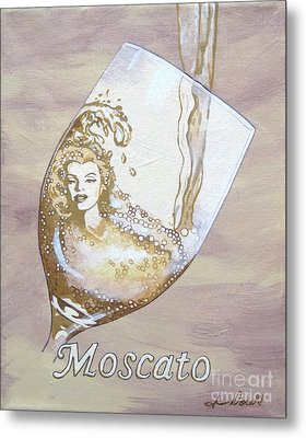 A Day Without Wine - Moscato Metal Print by Jennifer  Donald
