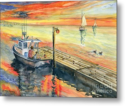 A Delightful Evening Metal Print by Melly Terpening